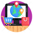 Online Shopping Ecommerce Global Shopping Icon