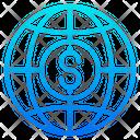 Global Shopping Global Purchasing Global Logistics Icon