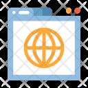 Global Shopping Webpaage Icon