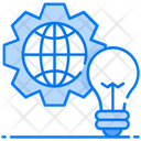 Global Solution Global Idea Global Development Icon
