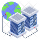Global Data Centers Global Storage Global Data Servers Icon