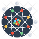 Global Structure Atomic Structure Worldwide Structure Icon