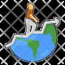 Global Success Career Path Career Growth Icon