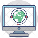 Global Communication Online Icon