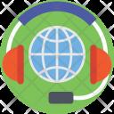 Globe Global Headphones Icon