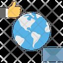 Global Connection Social Interaction Social Media Icon