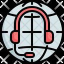 Global Network Headset Icon