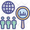 Global Research Global Survey Census Icon