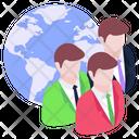 Global Team Global Persons Global Members Icon