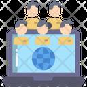 Global Team Worldwide Team Teamwork Icon