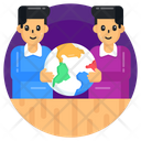 Global Friends Global Persons Global Team Icon