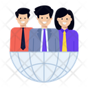 Virtual Team Global Team Global Members Icon