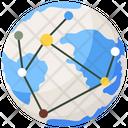 Global Technology Globalization Global Networking Icon