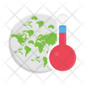 Temperature Thermometer World Icon