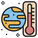 Global Temperature Warning Icon