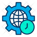 Global Time Clock Icon