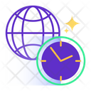 Global Time Time Clock Icon
