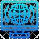 Global Transfer Internet Global Icon
