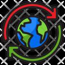 Global Transfer Transfer Earth Earthday Icon