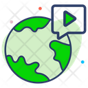 Global Video Icon