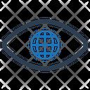 Eye Global World Icon