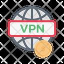Vpn Global Internet Icon