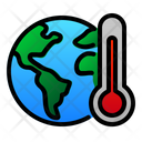 Earth Planet Termometer Icon