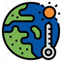 Global Warming Global Average Temperature Climate Change Icon