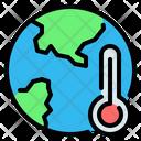 Global Warming Earth World Icon