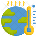 Global Warming Global Earth Icon
