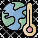 Global Warming Hot Environment Icon
