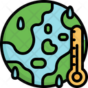 Global Warming Temperature Ecology Icon