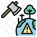 Global Warming Deforest Destroy Icon