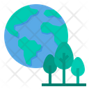 Global Warming Ecology Trees Icon