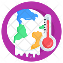 Global Temperature Global Warming Earth Temperature Icon