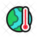 Global Warming Earth Temperature Icon