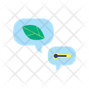 Global Warming Conversation Icon