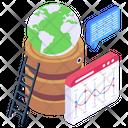 Global Web Global Website Web Analytics Icon