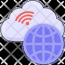 Cloud Wifi Global Wifi Cloud Internet Icon