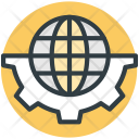 Globalization Globe With Icon
