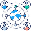 Globalization Global Network Global Connection Icon