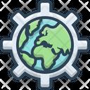 Globalization International Communication Icon