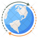 Globalization Round The World Global Connection Icon