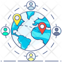 Globalization Global Location Global Address Icon