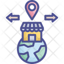 Branch Location Market Icon
