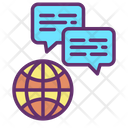 Globally Communication Icon
