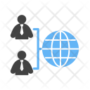 Globally Connected User Icon
