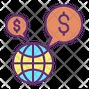 Globally Financial Dollar Icon