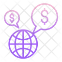 Idollar Earth Globally Financial Dollar Global Finance Icon