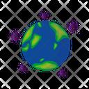 Globally Spread Virus Icon